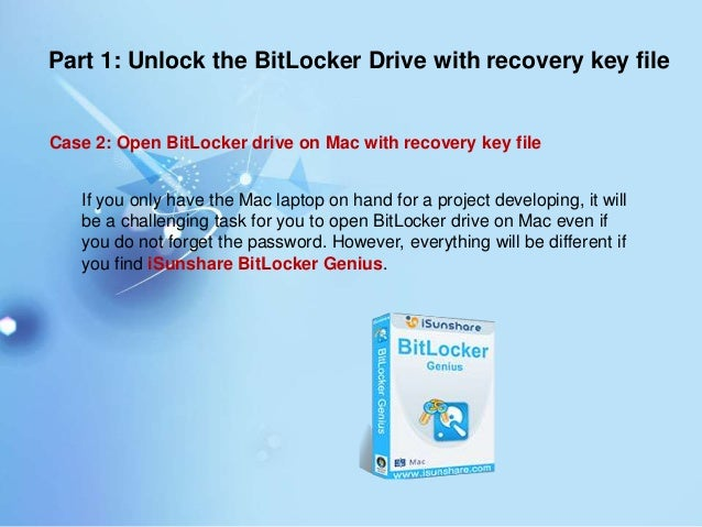 How to Unlock BitLocker Protected Drive without the Password