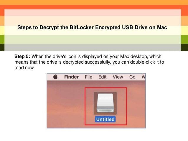 How to Unlock BitLocker Encrypt USB Drive on Mac