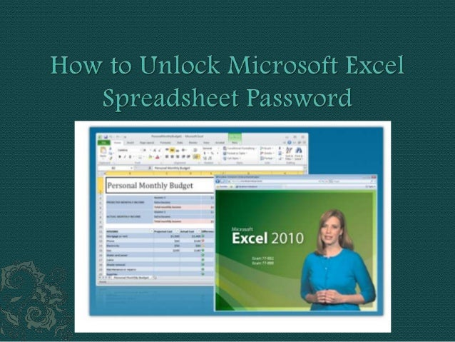  Guess that you've got utilized to setup a password for the Microsoft Excel record of the computer, one day anyone all of...