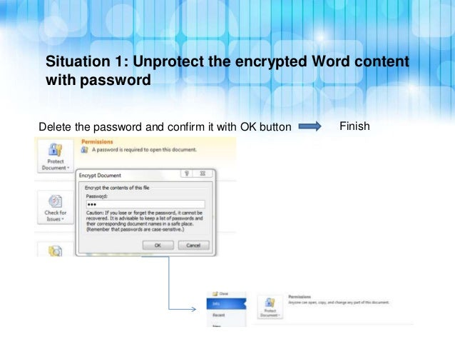 unable to unrestrict word document