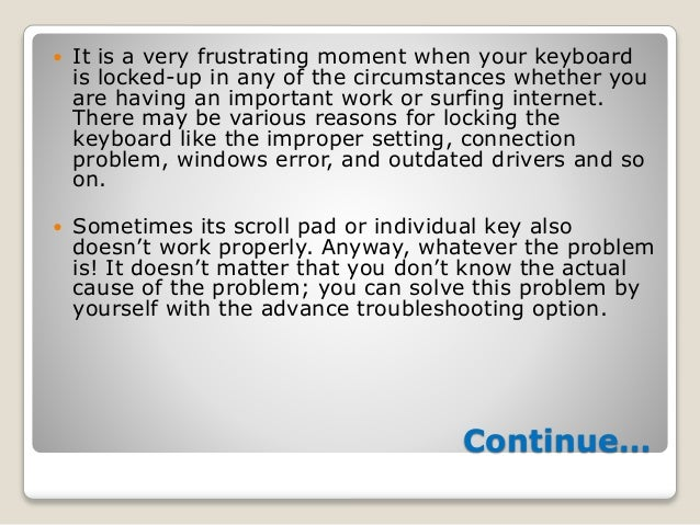 unlock hp laptop keyboard locked