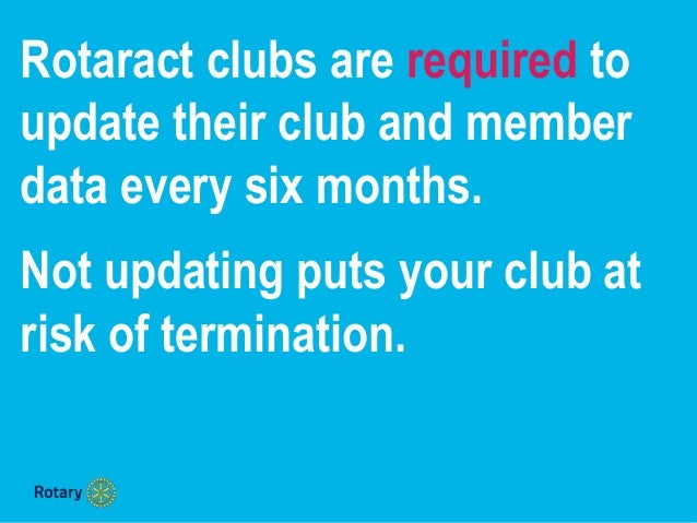 How to update Rotaract club & member data Slide 2