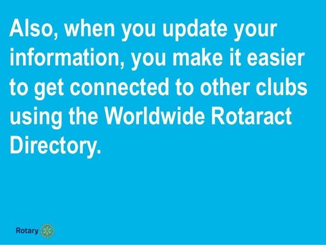 How to update Rotaract club & member data Slide 3
