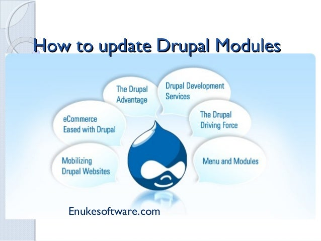 How to update Drupal Modules    Enukesoftware.com