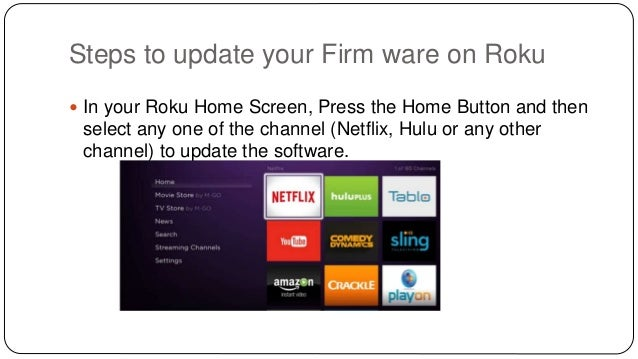How To Update Firm Ware On Roku