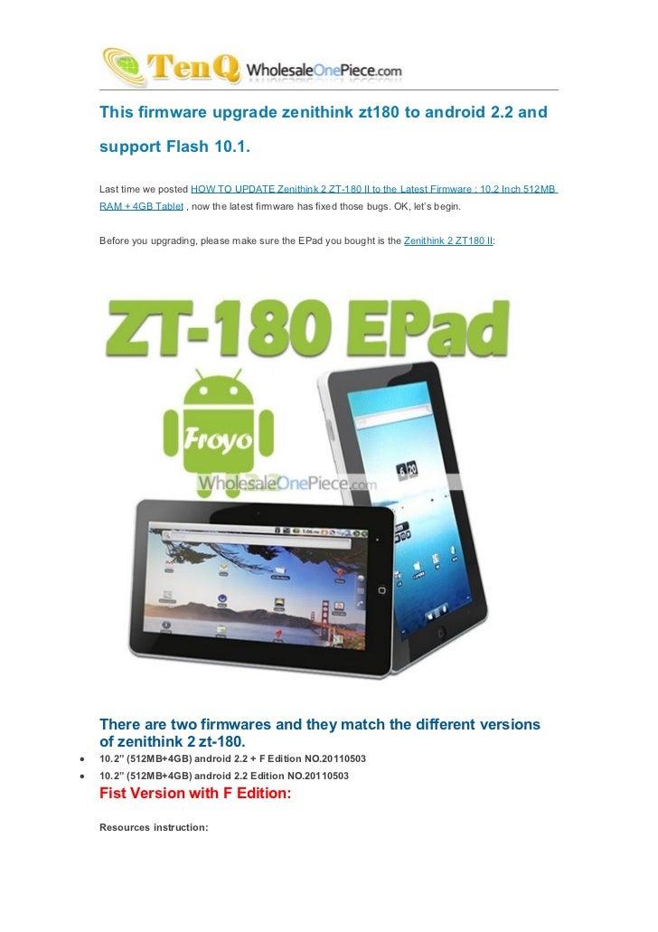 Zenithink zt-180 firmware upgarde tutorial (android tablet pc.