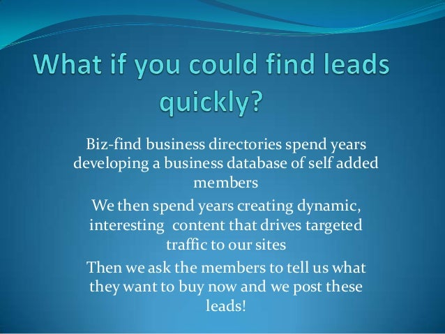How to use a business directory effectively Slide 3
