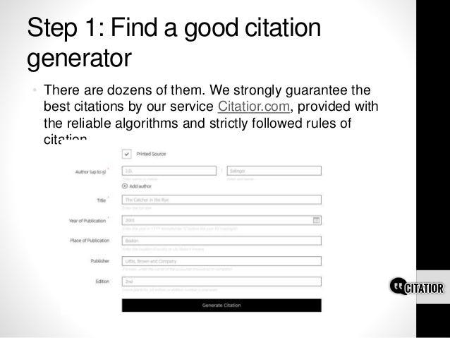 apsa citation machine