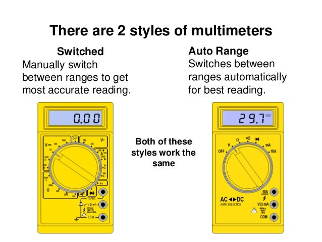Digital Multimeter Symbols : How to use a digital multimeter