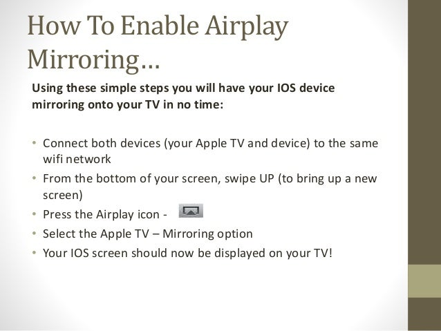How to use airplay mirroring on your Apple tv