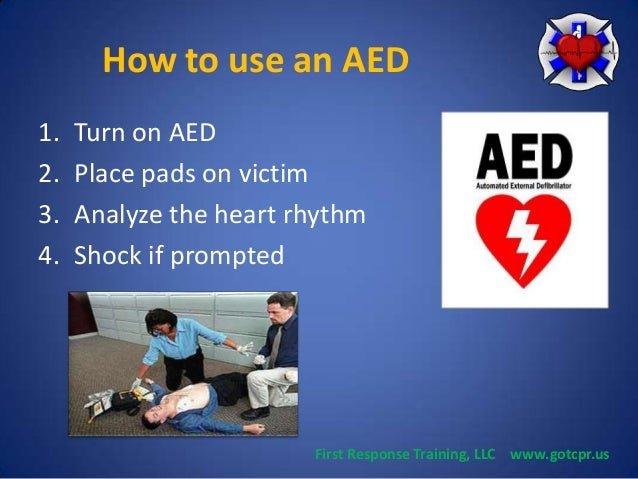 How to use an Automated External Defibrillator (AED)