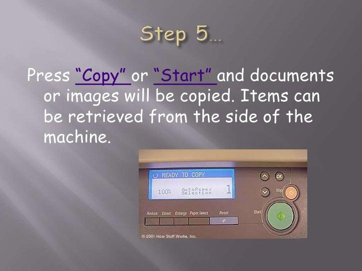 how to use photocopy machine step by step pdf