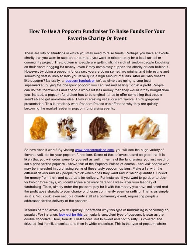 How To Use A Popcorn Fundraiser To Raise Funds For Your ...