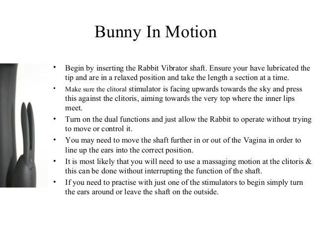 use rabbit vibrator