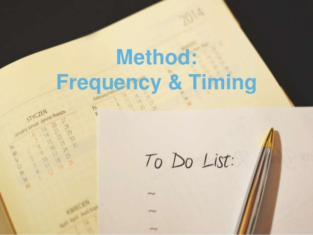 Method: Frequency & Timing