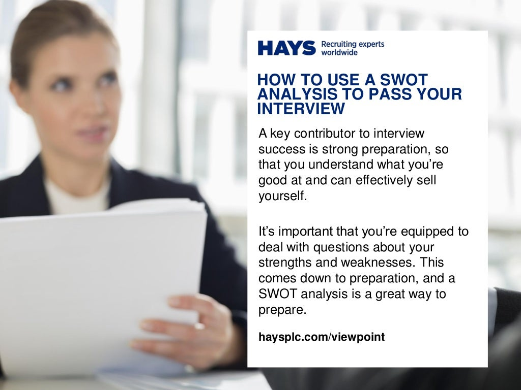 How to Use a SWOT Analysis to Pass Your Interview