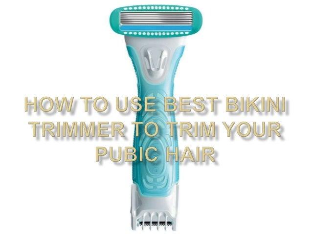How To Use A Bikini Trimmer