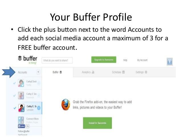 How to use buffer app Slide 3