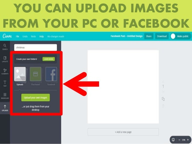 How to use Canva to create quick Facebook photos?