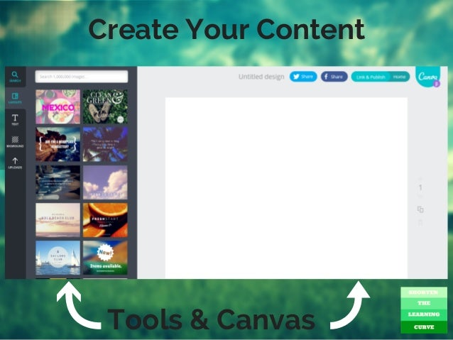 Create Your Content Tools & Canvas