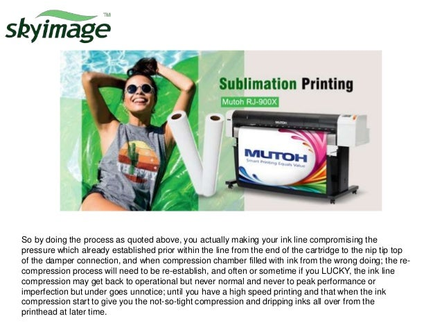 How to use compression damper on mimaki jv33