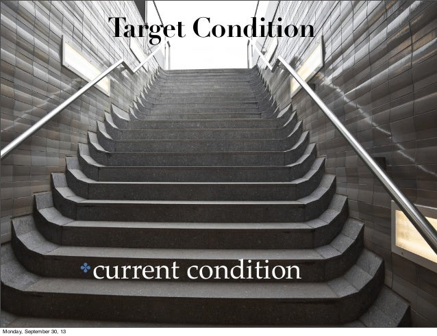 Target Condition  ✤  Monday, September 30, 13  current condition