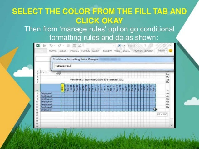 how to add colour to a data validation in excel