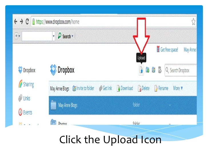 dropbox how to get a shared folder to appear