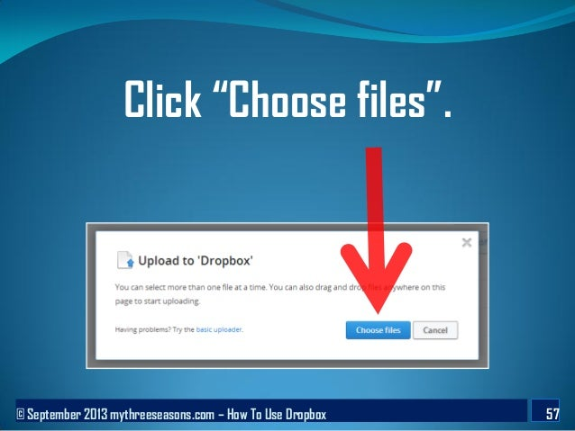 how to use drop box to share file