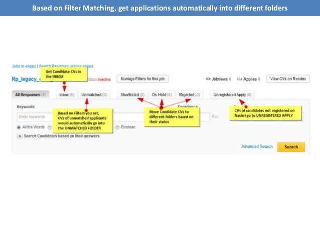 Based on Filter Matching, get applications automatically into different folders