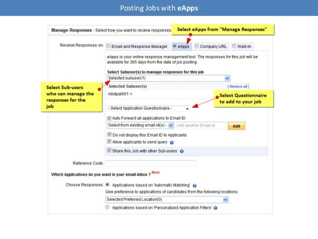 Posting Jobs with eApps