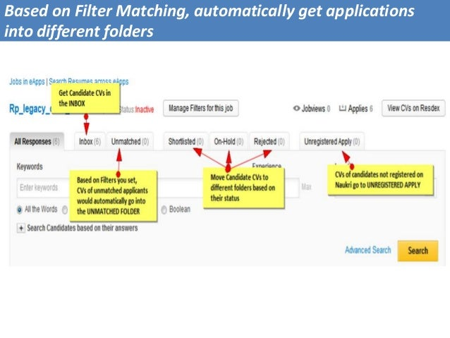Based on Filter Matching, automatically get applications into different folders