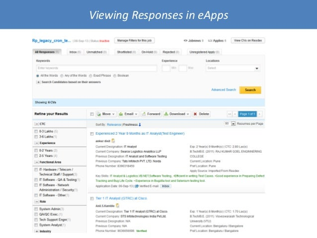 Viewing Responses in eApps