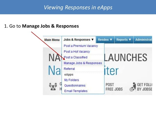 How to use e apps response manager to make Slide 3