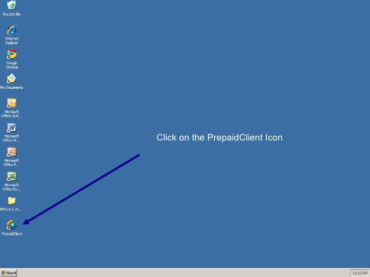 Click on the PrepaidClient Icon