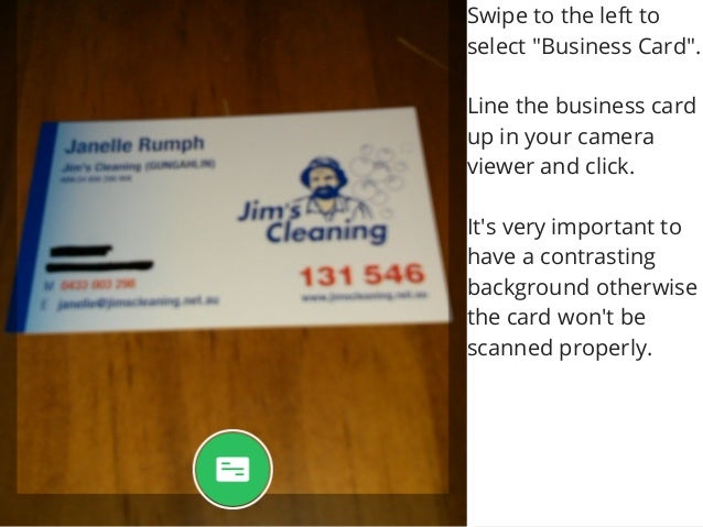 How to use evernote and your android phone to store business cards 5 reheart Images