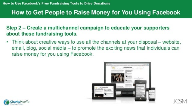 how to ask for donations for a fundraising on facebook