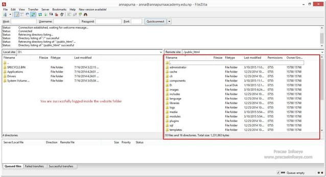 annapurna-anna@annapurnaacademy. edu. np-FiIeZiIIa — al File Edit View Trarisler Server Bookmarks Help Newversiorlavailabl...