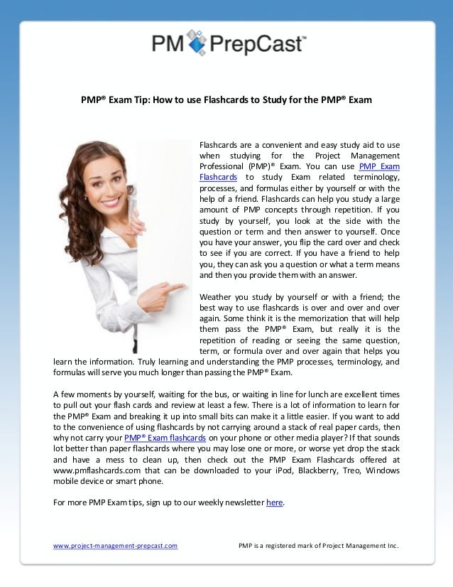 PMP® Exam Tip: How to use Flashcards to Study for the PMP® Exam  Flashcards are a convenient and easy study aid to use whe...