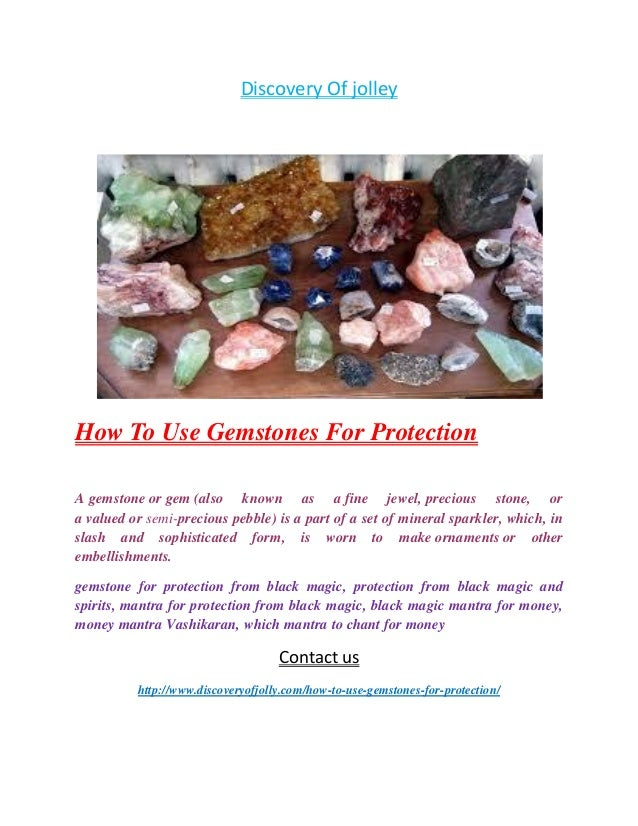 How to use gemstones for protection