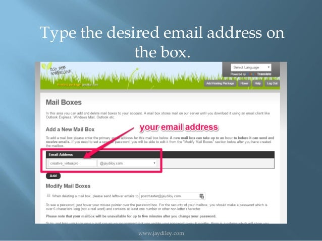 how to create your own email domain free gmail