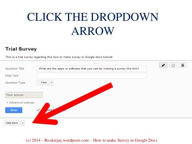 how to create a survey using google docs