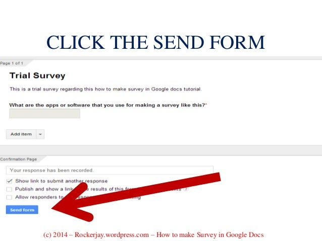 how to use google docs for survey