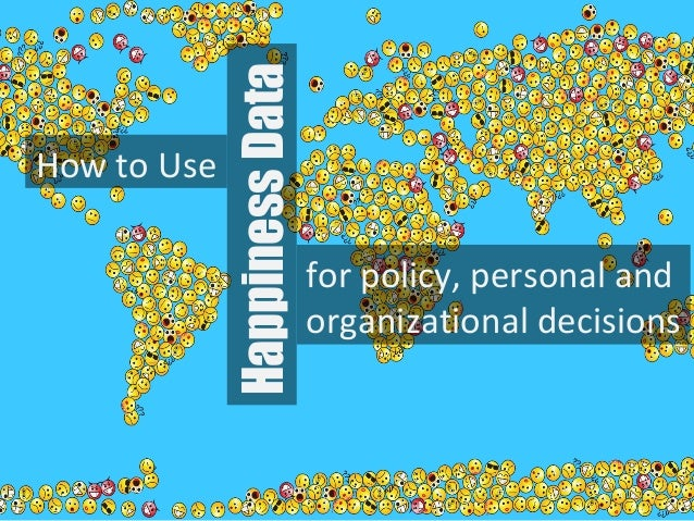 How to Use for policy, personal and organizational decisions HappinessData