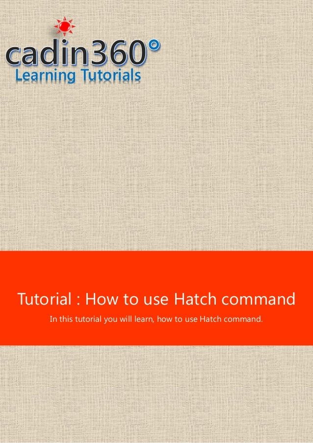 How to use hatch command in AutoCAD