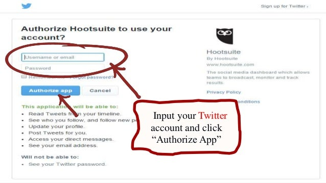 how to add a twitter account to hootsuite