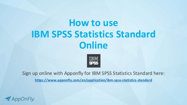 Technology Management Image: How To Use IBM SPSS Statistics Standard Online