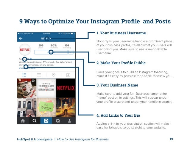 How to use instagram for business 18hubspot iconosquare how to use instagram for business anatomy of the perfect profile and post 19 ccuart Gallery