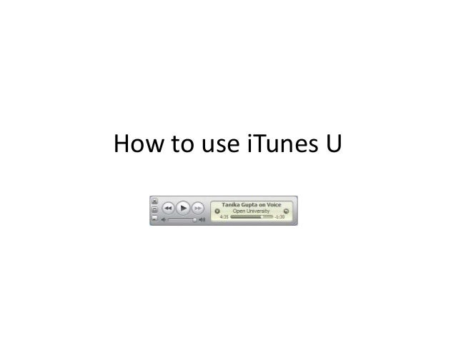 How to use iTunes U<br />