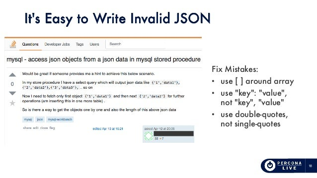 How to Use JSON in MySQL Wrong